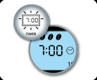 Handige timerfunctie incl. klok met LCD-display