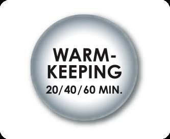 Instelbare warmhoudtijd